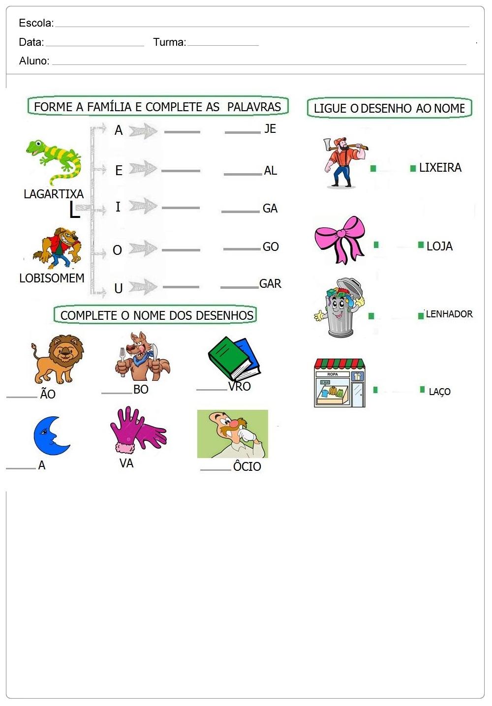 Atividade Com As Letras L M E N Para Imprimir So Escola