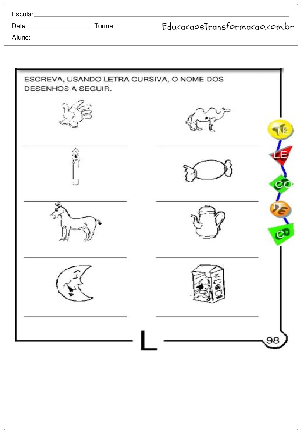 Atividades Com A Letra L Para Alfabetizacao Para Imprimir