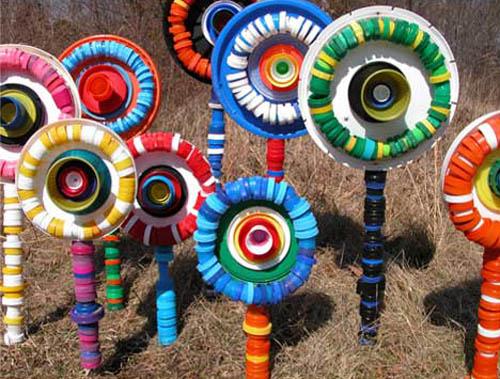 Atividades com tampinhas plásticas para primavera