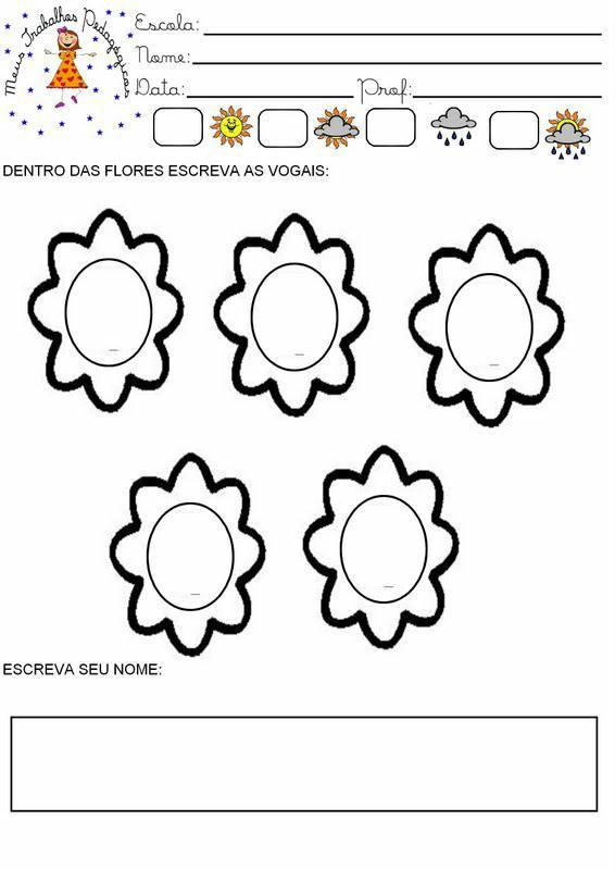 Atividades com a temática primavera: Desenhos para colorir.