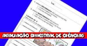 Avaliação Bimestral de Ciências 2º ano do Ensino Fundamental.