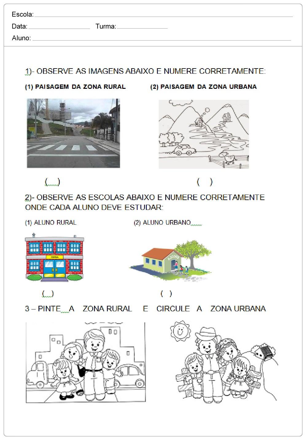 Avaliação Bimestral de Geografia para imprimir.
