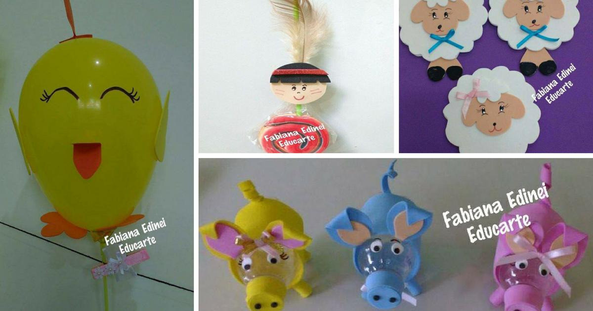 Ideias de lembrancinhas para o Dia das Crianças.