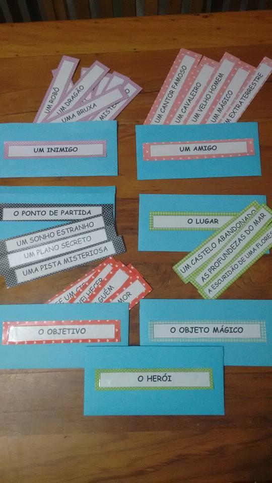 Jogo Fábrica de contos para trabalhar escrita: Produção de Texto.