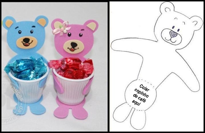 Lembrancinha Bala com Ursinho para o Dia das Crianças: Moldes para imprimir.