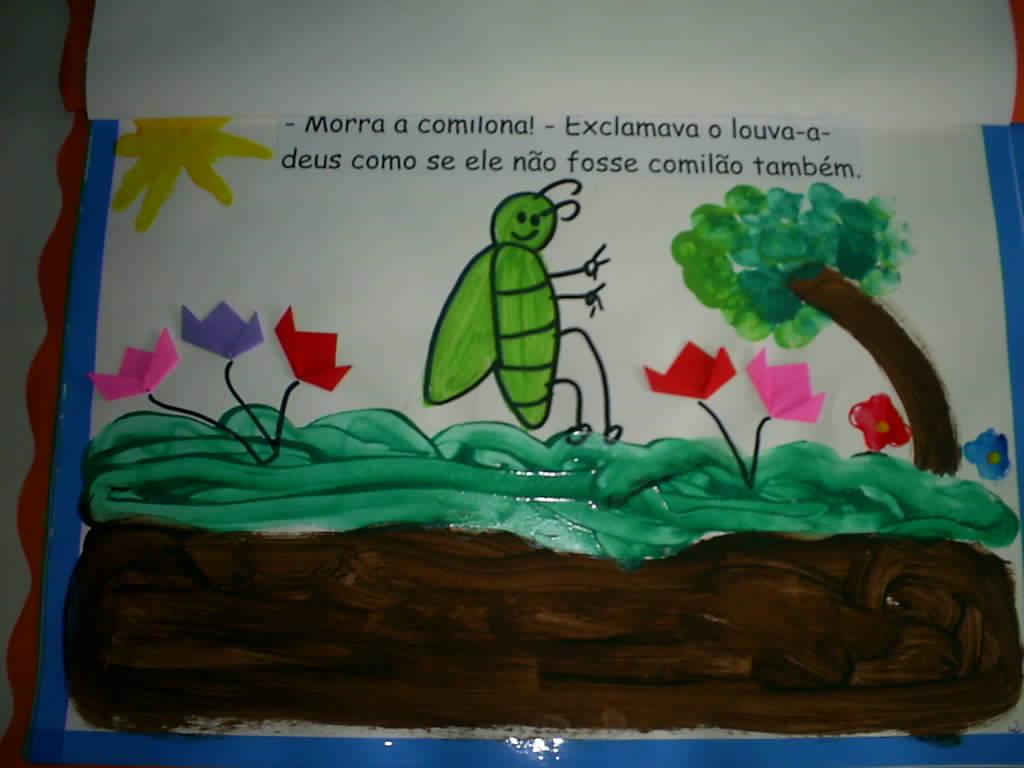 Livro ilustrado para trabalhar o livro a primavera da lagarta.