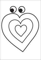 Lembrancinhas com Corações para o Dia das Crianças - Moldes para Imprimir.