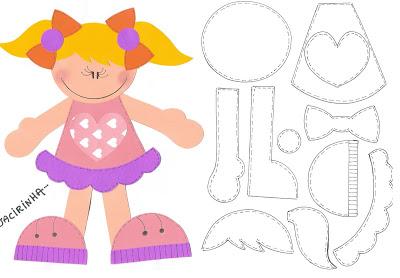 Moldes Variados Para O Dia Das Criancas Menino E Menina Imprimir