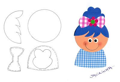 Moldes variados para o Dia das Crianças - Menino e Menina - Imprimir.