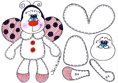 Moldes variados para o Dia das Crianças - Animais
