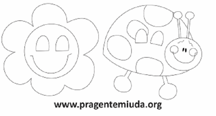Máscara de flor e joaninha para primavera