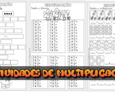 5 Atividades de Multiplicação para Imprimir - Series Iniciais
