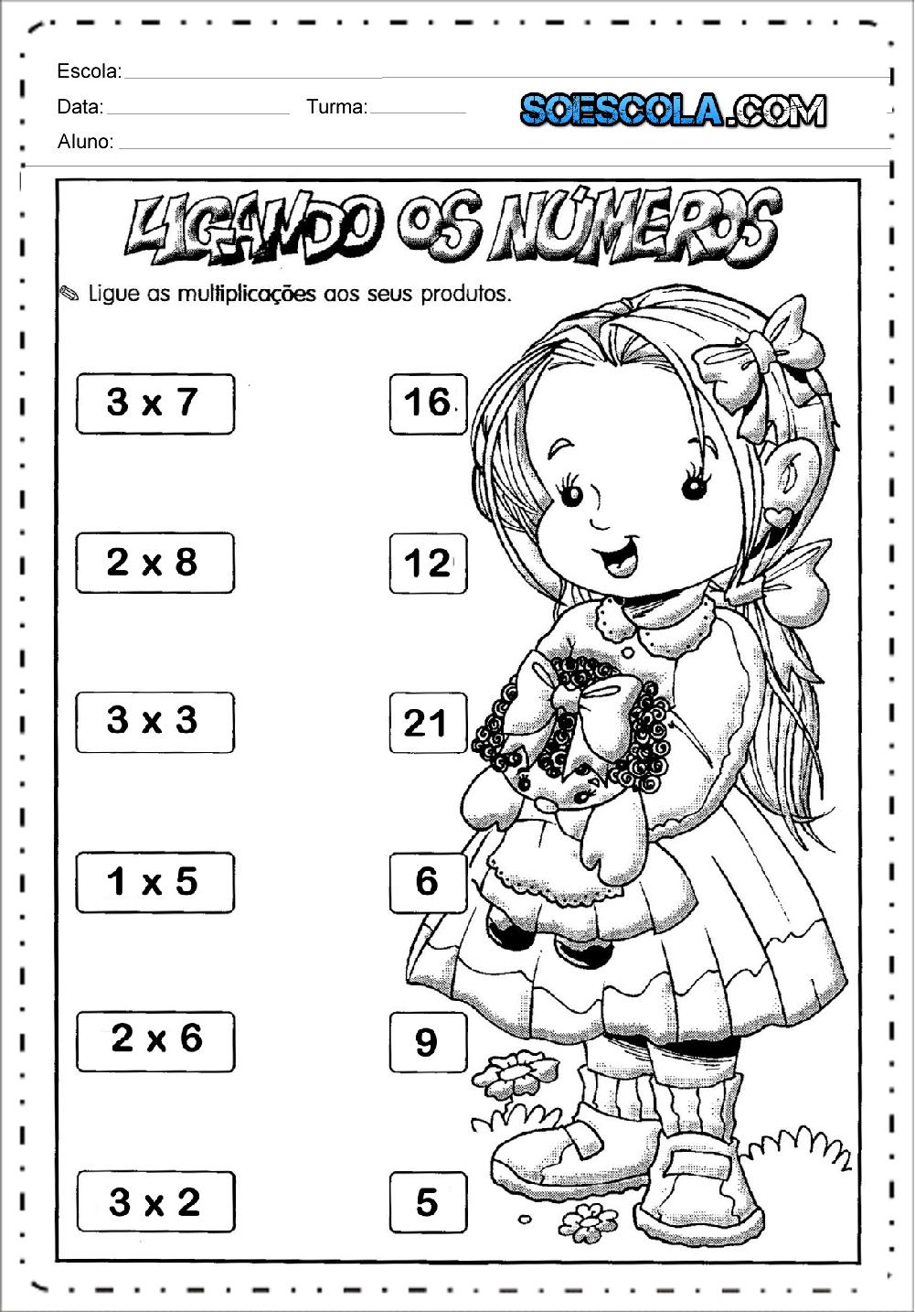 4 Atividades de Multiplicação - Para Imprimir - Ensino Fundamental.