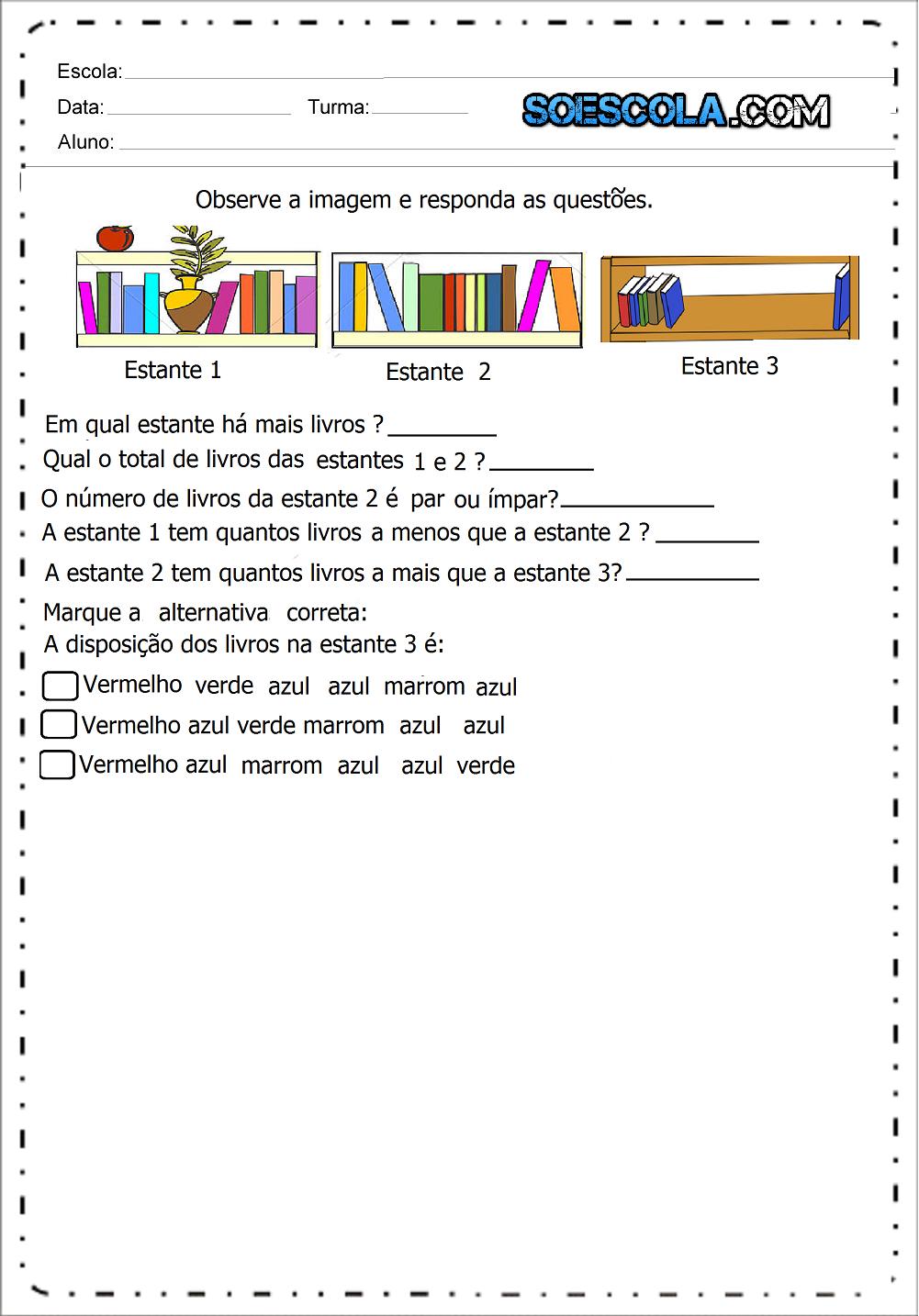 8 Atividades De Matemática 2 Ano Para Imprimir Ensino Fundamental