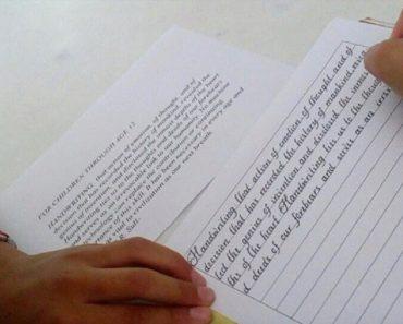 A letra que levou uma jovem de 14 anos a vencer prêmio de caligrafia