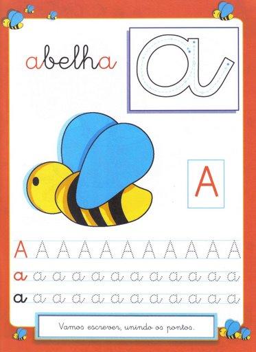 8 Atividades com Vogais - Pontilhado Ilustrado: Vogal A.