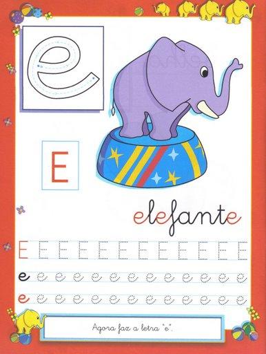 8 Atividades com Vogais - Pontilhado Ilustrado: Vogal E,