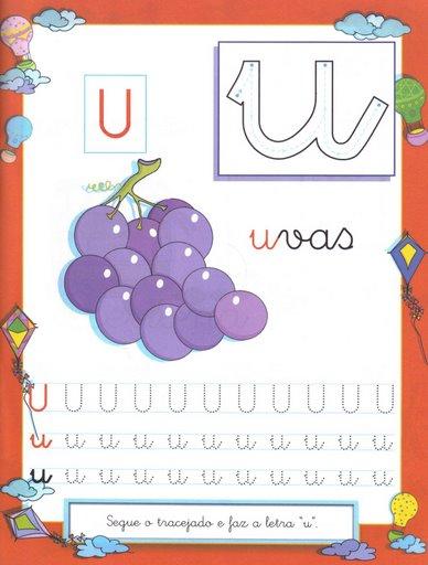 8 Atividades com Vogais - Pontilhado Ilustrado: Vogal U.