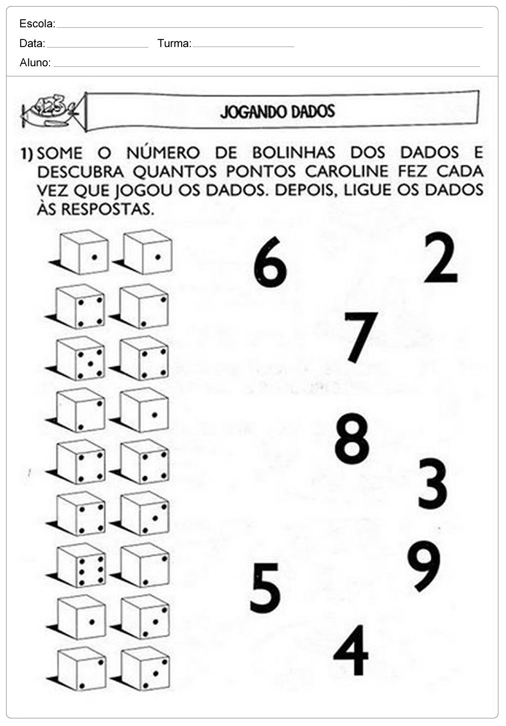 Plano de Aula números no cotidiano para 1º ano - Ensino Fundamental.