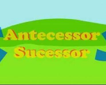 Atividades Sucessor e Antecessor - Atividades Educativas de Matemática.