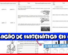 Avaliação de Matemática 4 ano - Baixe em Word - Ensino Fundamental.
