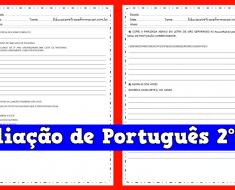 Avaliação de Português 2º ano do Ensino Fundamental.