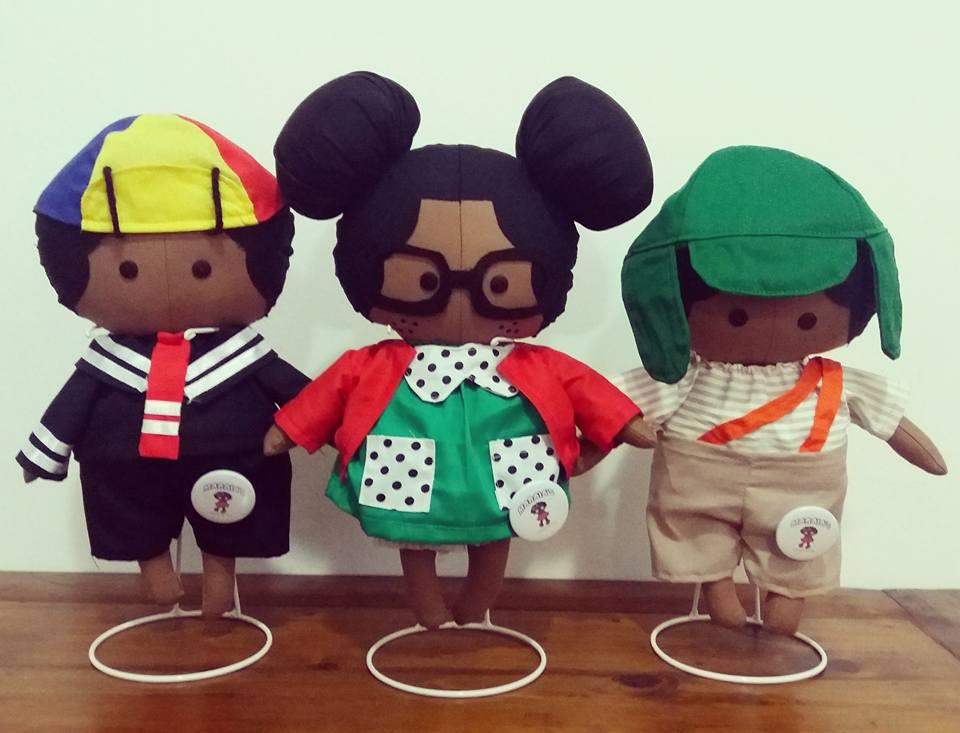 Psicóloga cria linha de bonecos com heróis e personagens negros