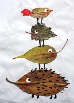 Ideias de Artes com Folhas Secas.