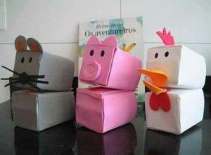 Ideias de Lembrancinhas e Atividades com caixas de leite