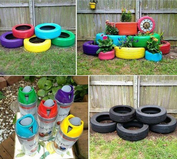 Ideias Reciclagem Lúdicas com Pneus.