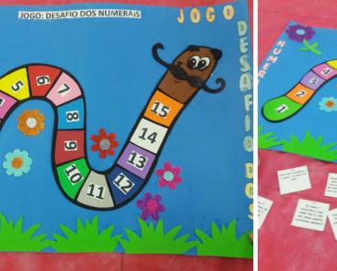 Jogo desafio dos numerais para Ciclo de Alfabetização - Series Iniciais.
