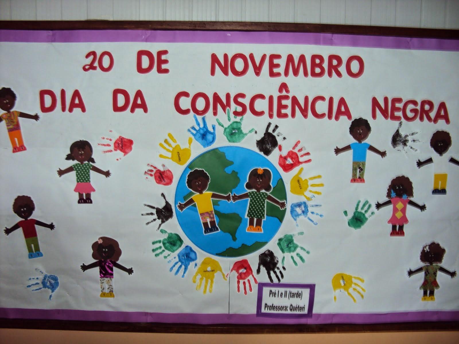 Murais dia da consci ncia negra dicas de mural e painel for Mural de natal 4 ano