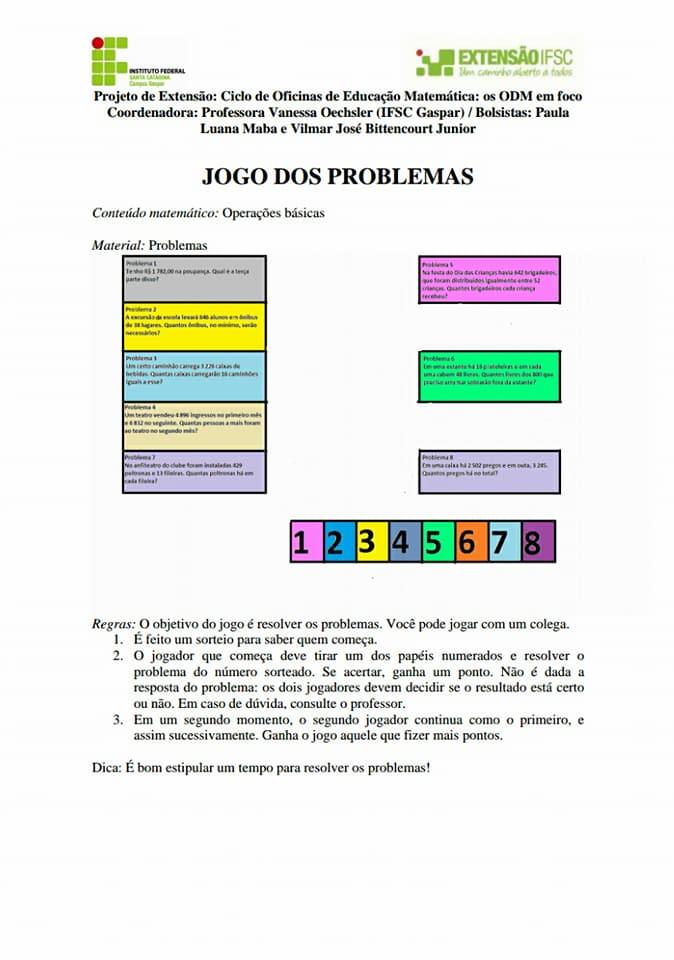 OFICINA DE JOGOS APOSTILA DO PROFESSOR EM PDF - IMPRIMIR.