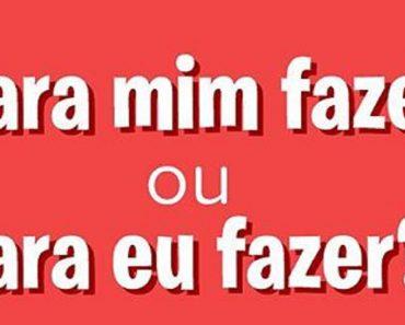 Para mim fazer ou Para eu fazer? Qual é o Correto? Dicas de Português.