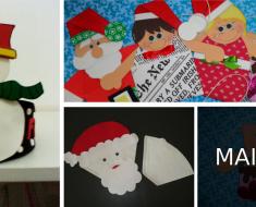 Sacolinhas para o Natal com Moldes para imprimir.