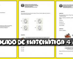 Simulado de Matemática 4 ano do Ensino Fundamental para imprimir.
