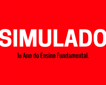 Simulado de Português 1 ano Ensino Fundamental - Diagnóstico Inicial.