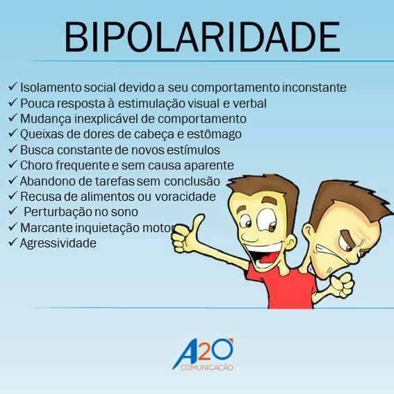 Transtorno Bipolar - O que é - Sintomas - Dicas para pais e professores.