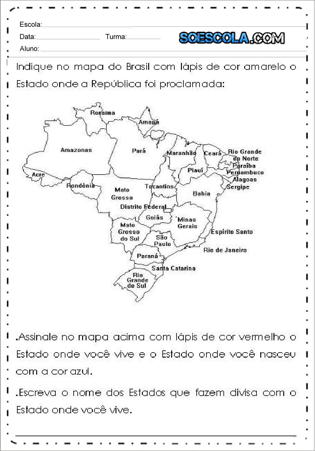 10 Atividades Proclamação da Republica - Para Imprimir - Series Iniciais.