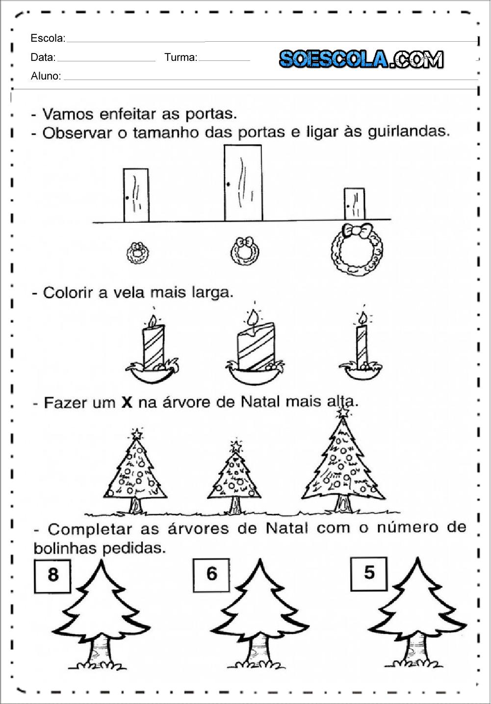 12 Atividades de Natal - Para Imprimir - Atividades Educativas do Natal