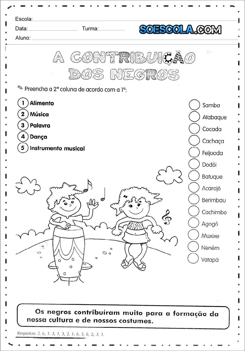 2 Atividades Dia da Consciência Negra - Para Imprimir - Series Iniciais.