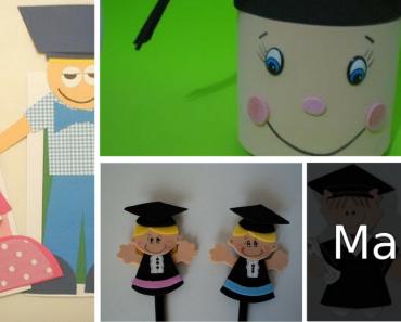 8 Lembrancinhas para Formatura Infantil em EVA com moldes