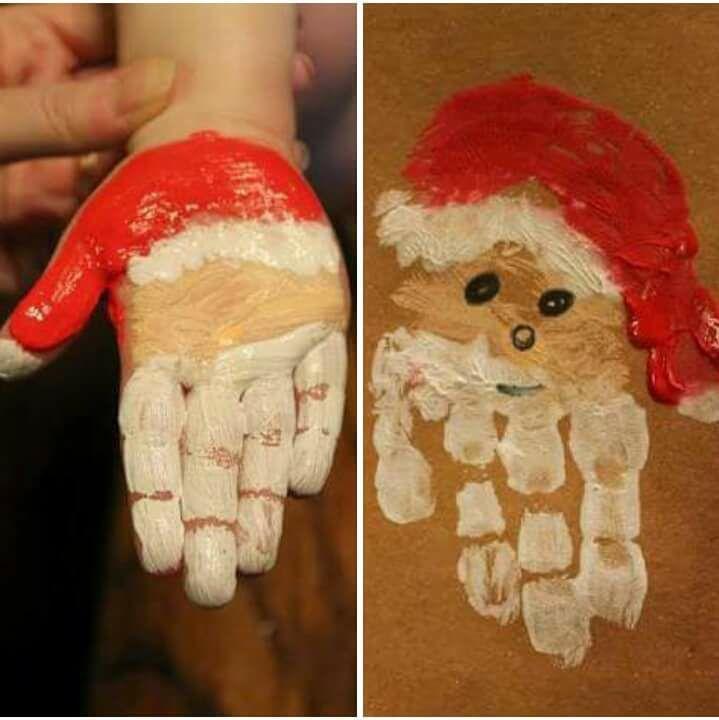 Arte com temática natalina com tinta guache para series iniciais