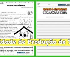 Atividade de Produção de Texto Carta à República - Para Imprimir.