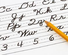 Atividades com letra cursiva - Para Imprimir - Series Iniciais - 1º e 2º ano.