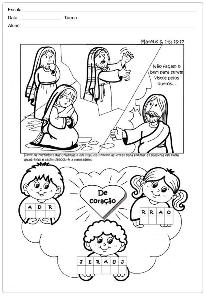 Atividades de Ensino Religioso 1 ano - Para Imprimir.