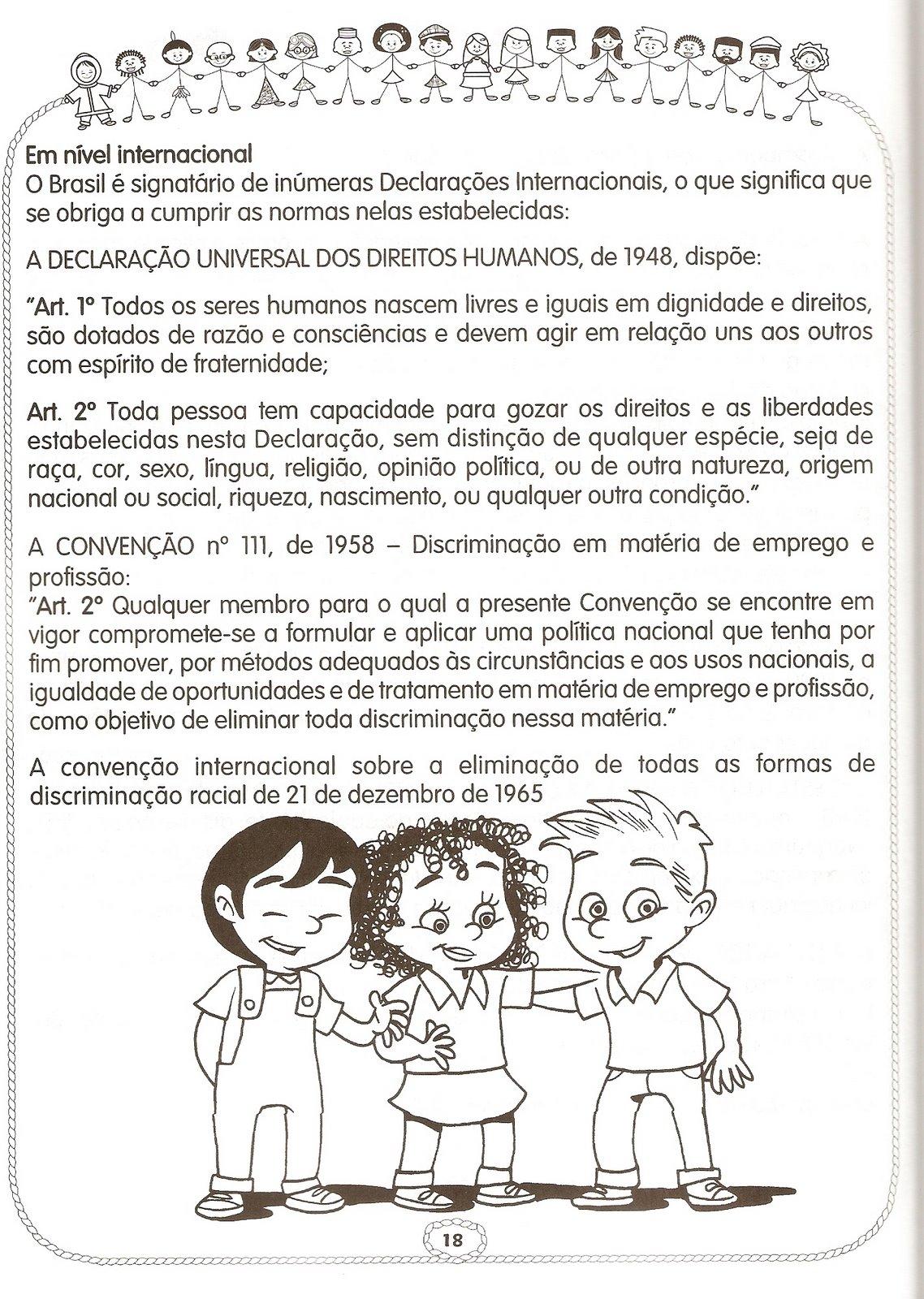 Atividades de Interpretação de texto sobre Racismo para imprimir.
