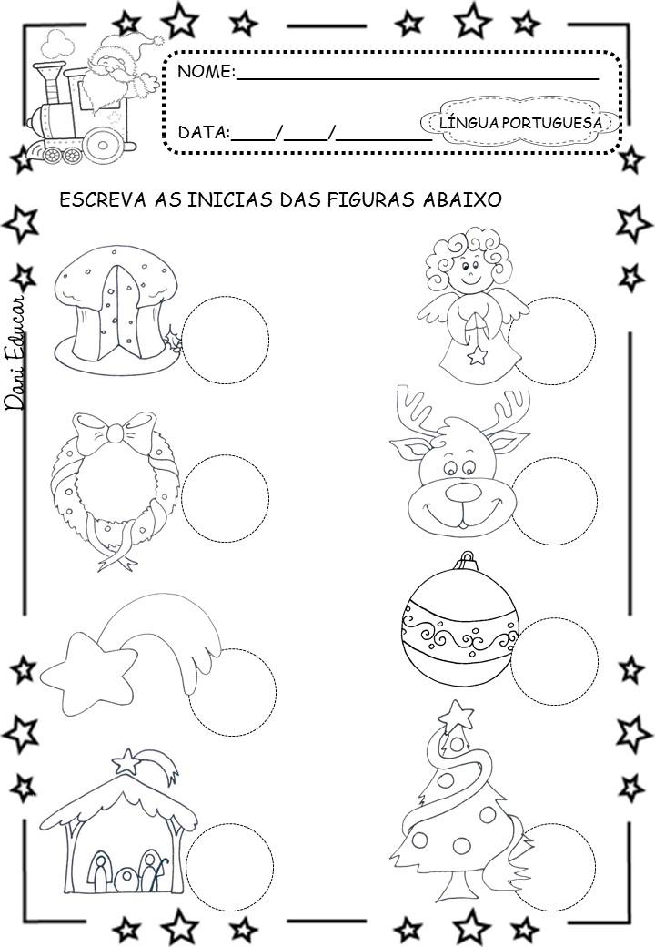 Atividades de Natal Educação Infantil - Para Imprimir - Series Iniciais