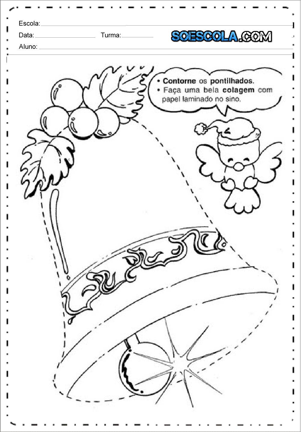 Atividades De Natal Educação Infantil Para Imprimir Series Iniciais