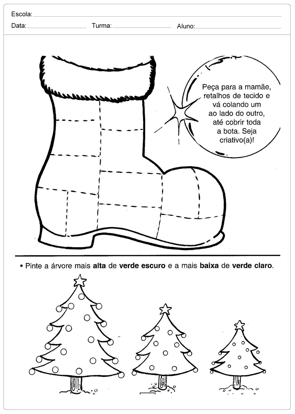 Atividades De Natal Para Imprimir Series Iniciais